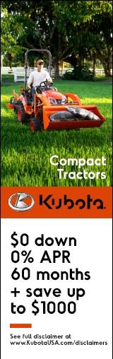 O% Financing on Kubota Compact Tractors